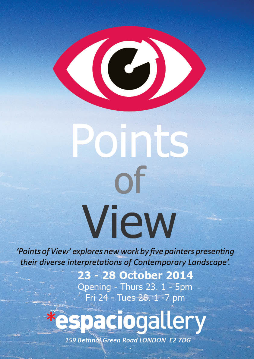 Points of view colour poster with dates