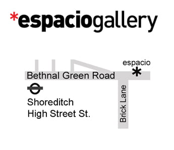 Espacio title and map